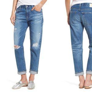 AG Ex-Boyfriend Cropped Slim Jeans